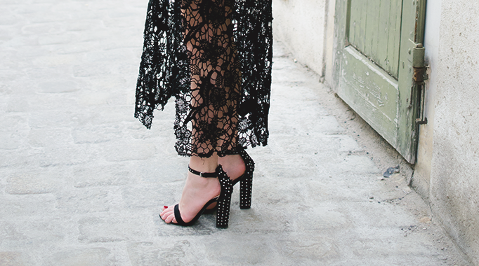 black lace outfit