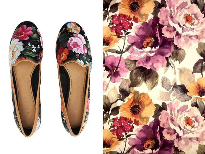 flower prined shoes