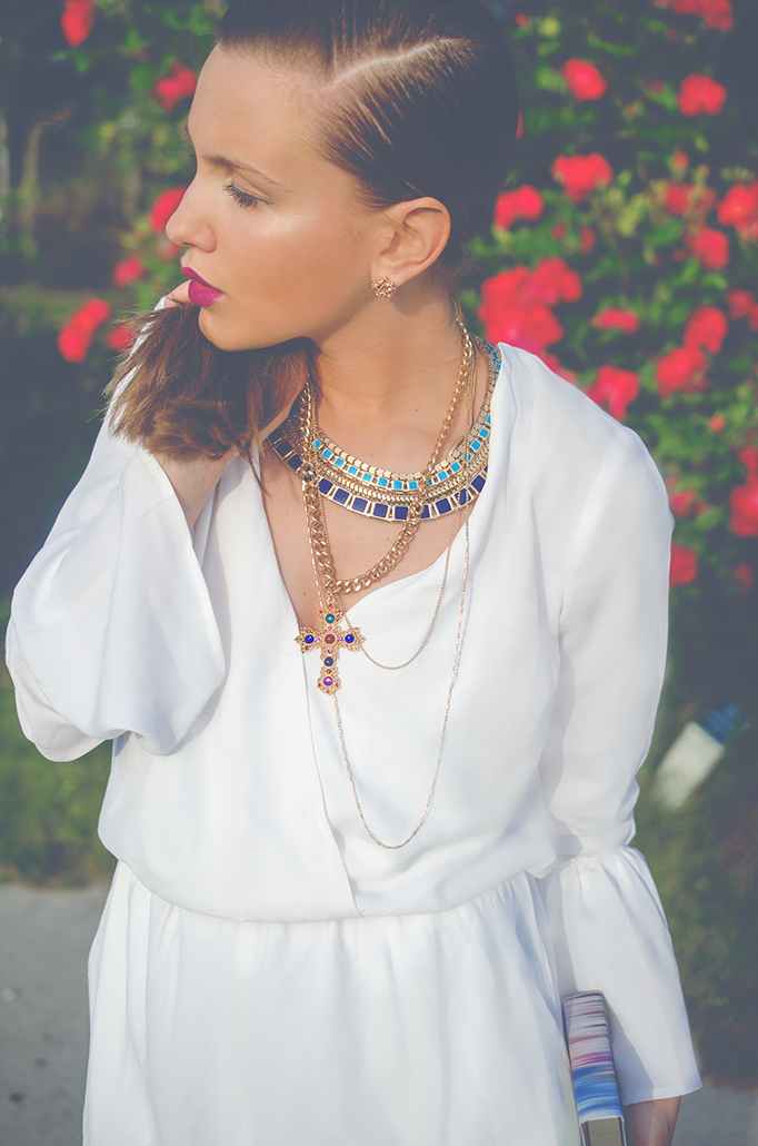 layered necklaces gold