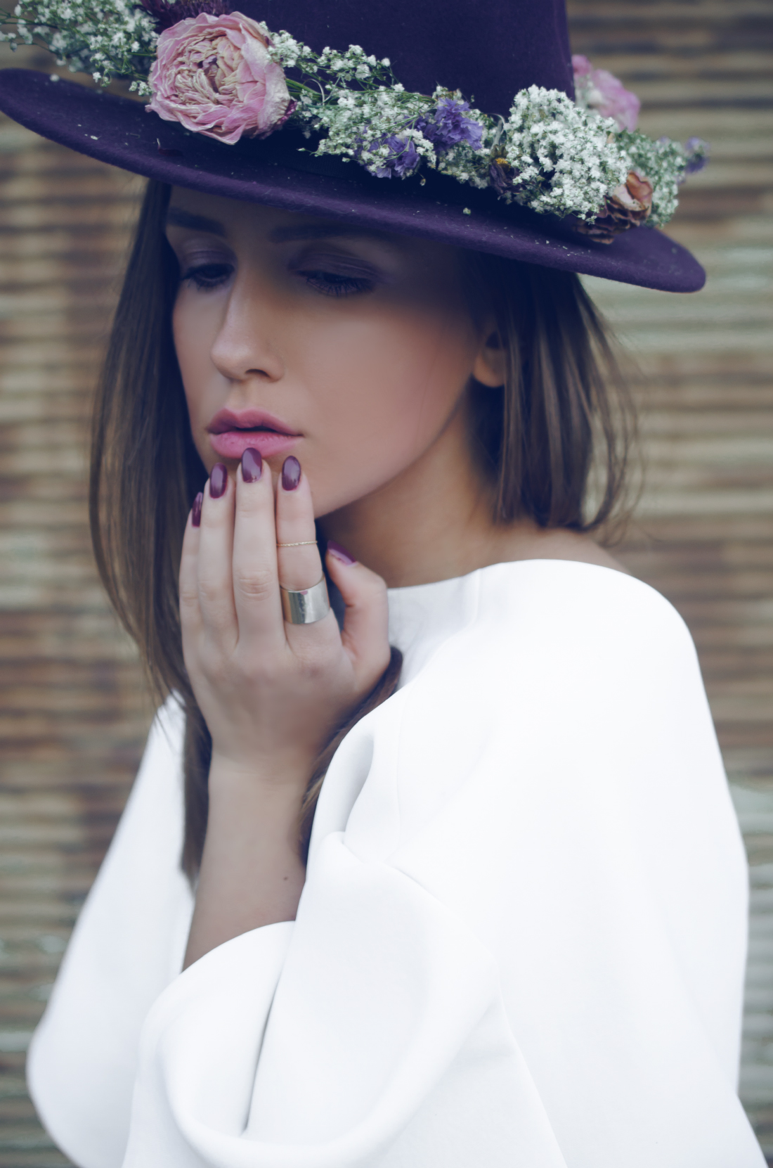Flower Hat - Hut Inspiration - Fall Winter 2014-2015 - Fleur de Mode - Hristina Micevska