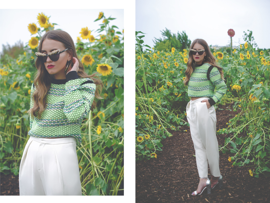 cat eye sunglasses outfit inspiration - fleur de mode