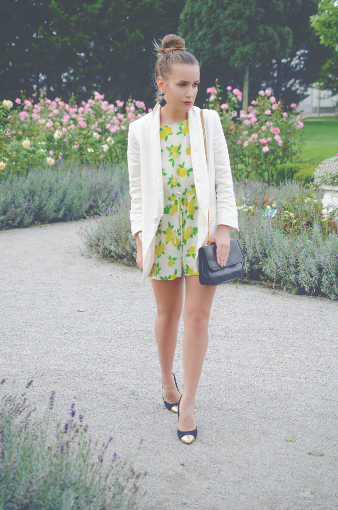 late summer outfit - monsoon - lemon print jumpsuit - fleur de mode - hristina micevska
