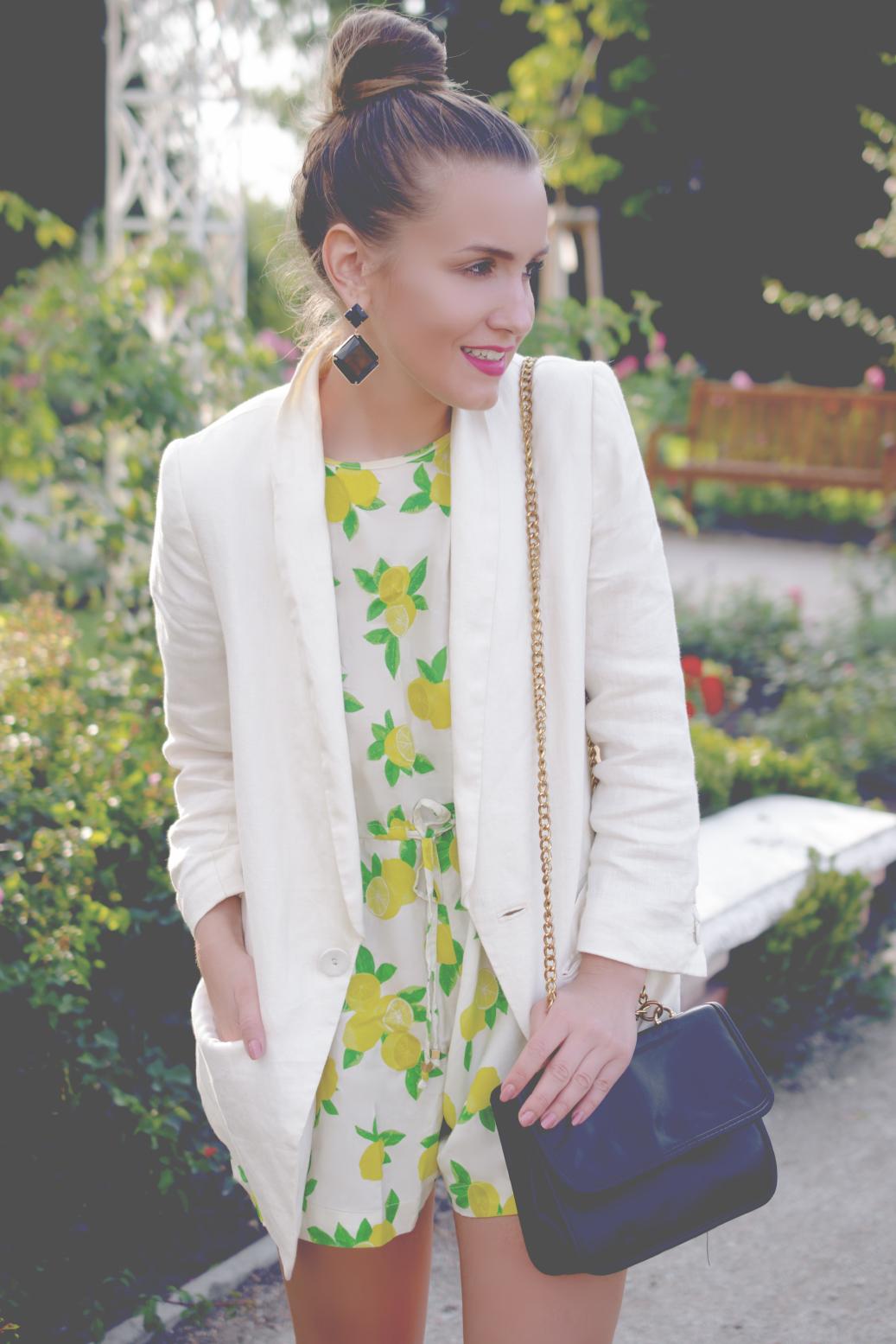 lemon print jumpsuit - fleur de mode - hristina micevska