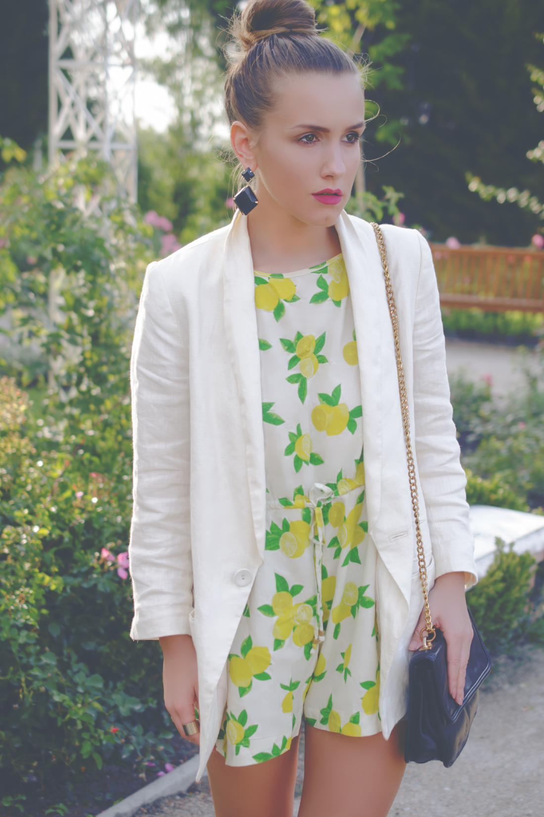 lemon printed jumpsuit - Fleur de Mode - Hristina Micevska