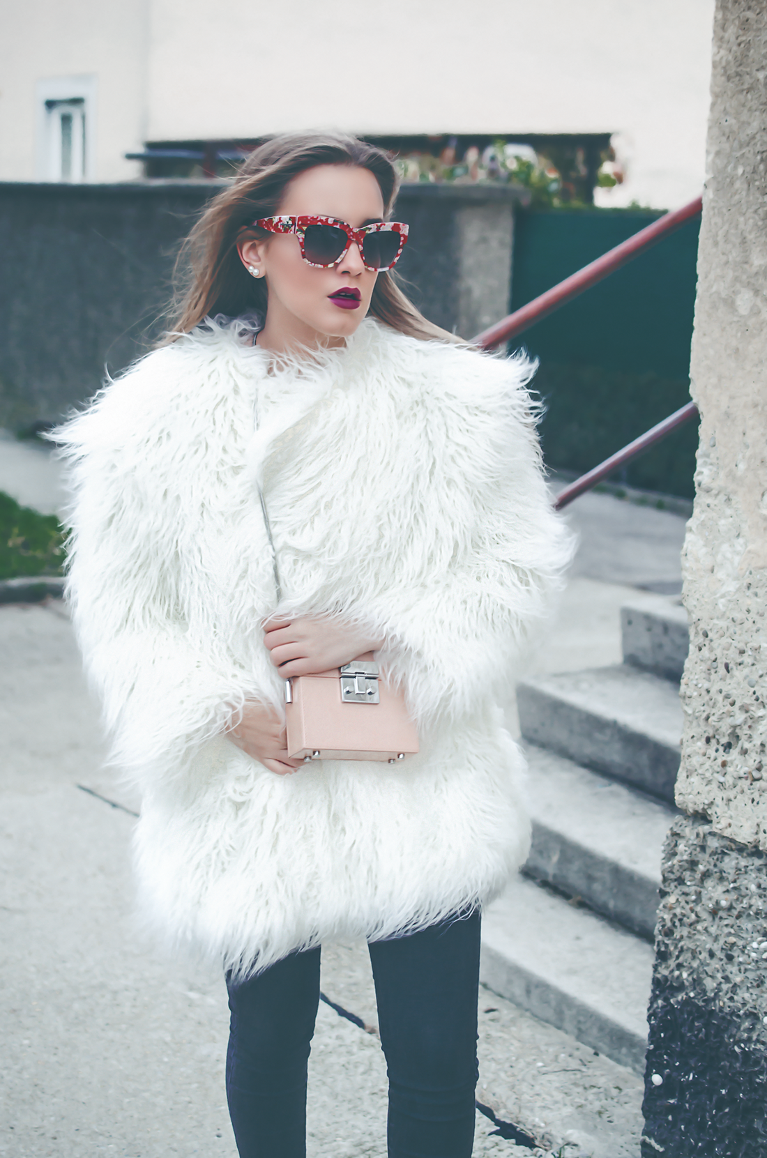 fake fur coat - herbst outfit - fleur de mode - hristina micevska