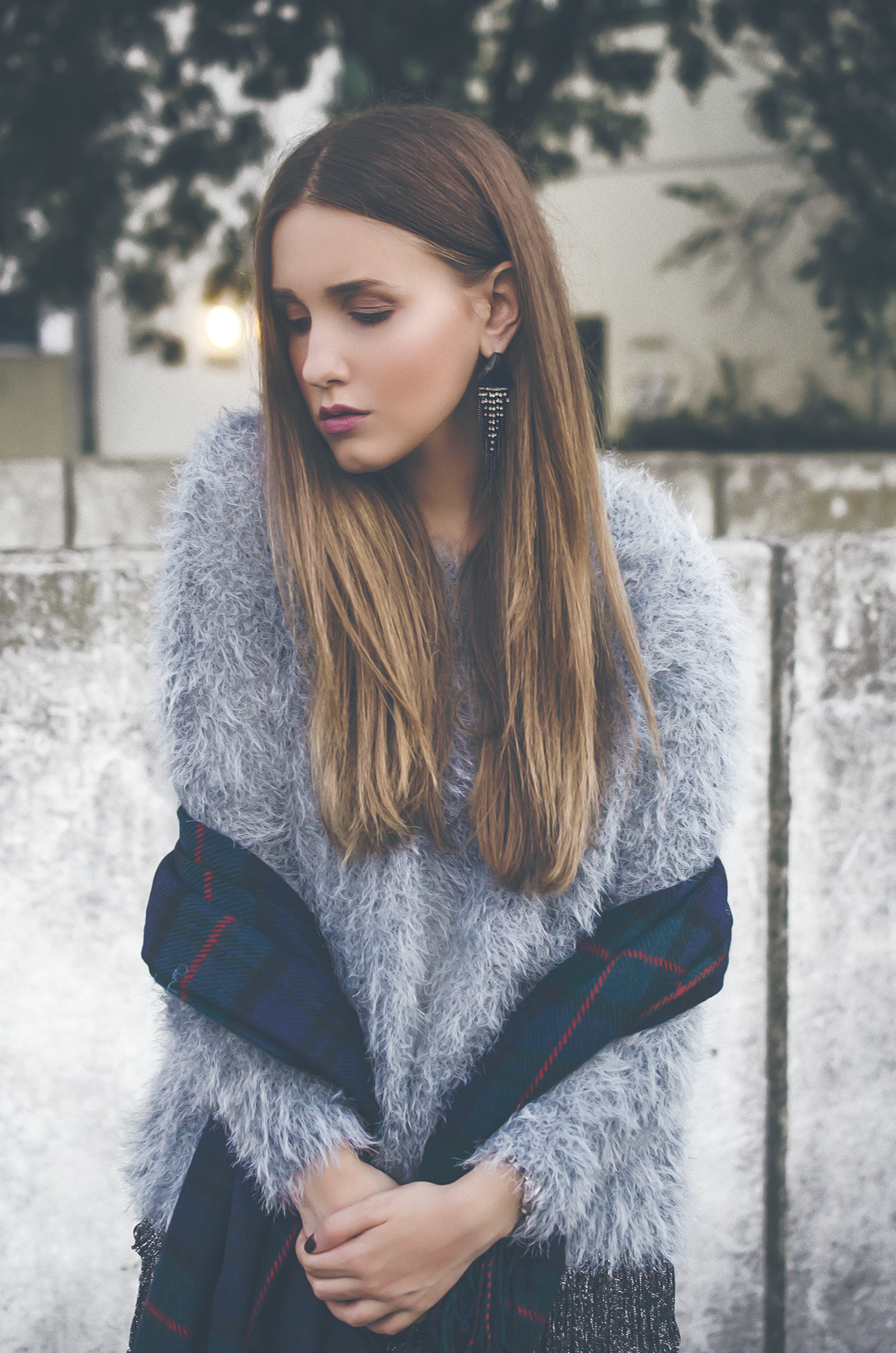 oversized fluffy pullover - fleur de mode - hristina micevska