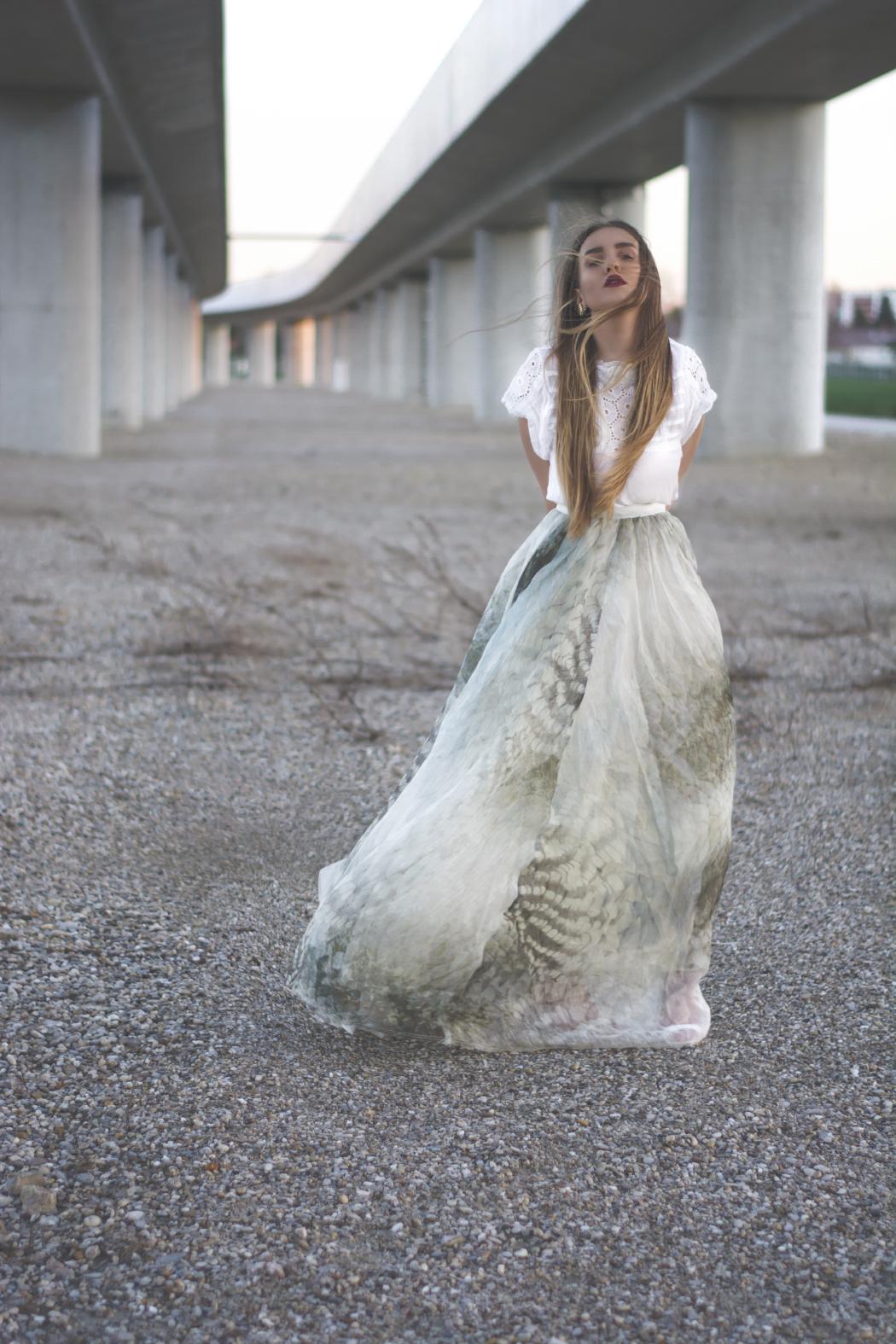 Maxi Skirt H&M Conscious 2015