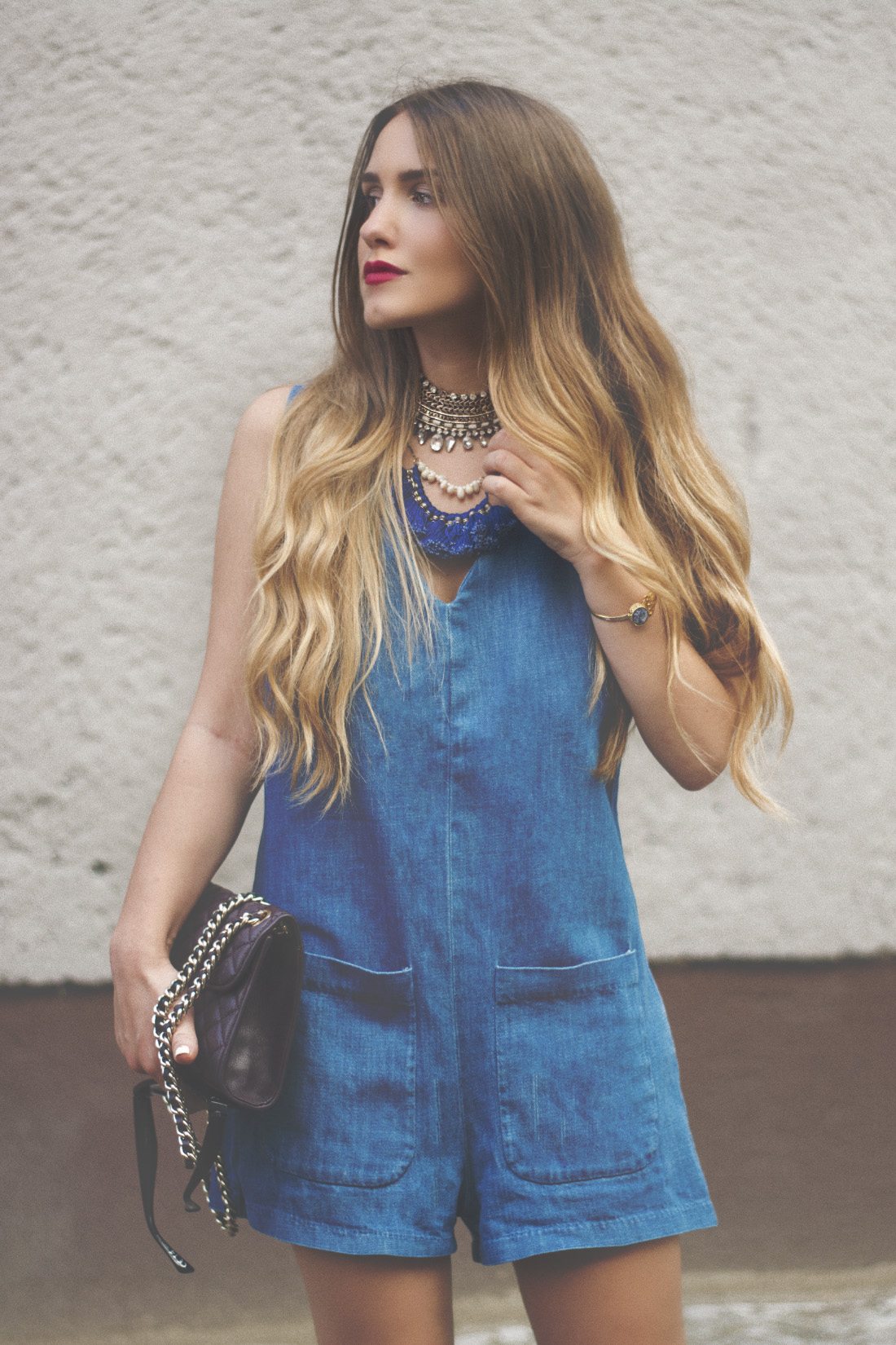 Streetstyle Fashion Week 2015 - Denim Jumpsuit