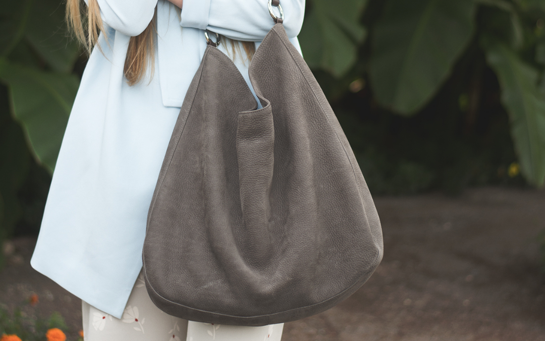 Windsor grey leather bag FW 2015
