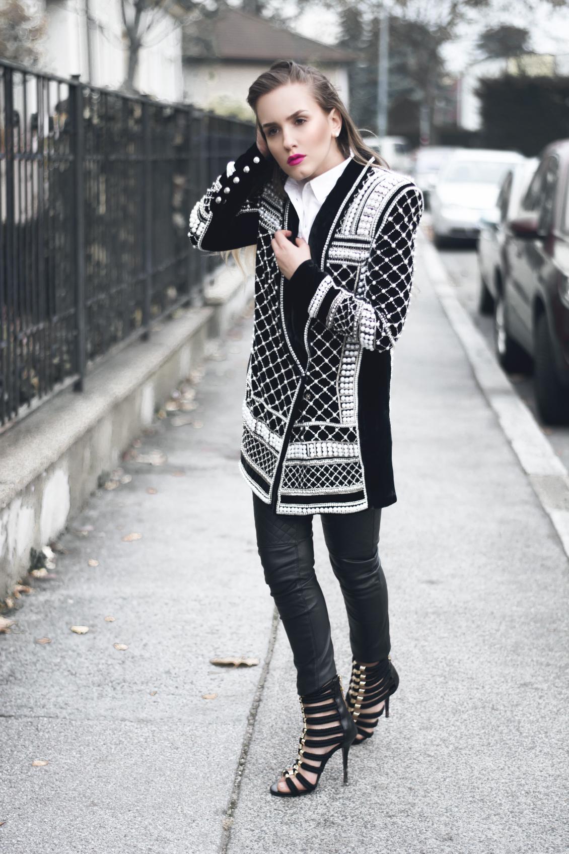 Balmain x H&M Perlen Blazer