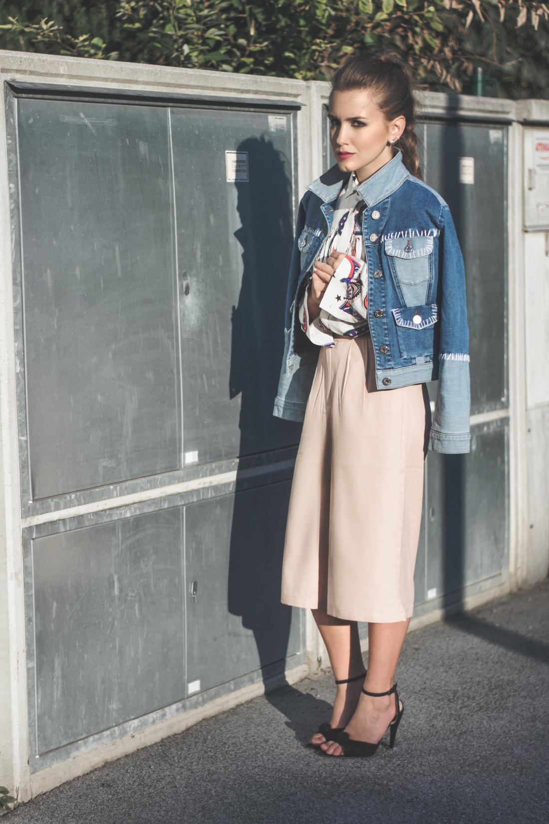 Culottes Outfit Inspiration via Fleur de Mode