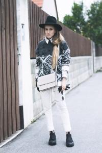 damen um 50 Prozent reduziert die beste Einstellung Hemd unter Pullover - Herbst Outfit inspiration | FLEUR DE MODE