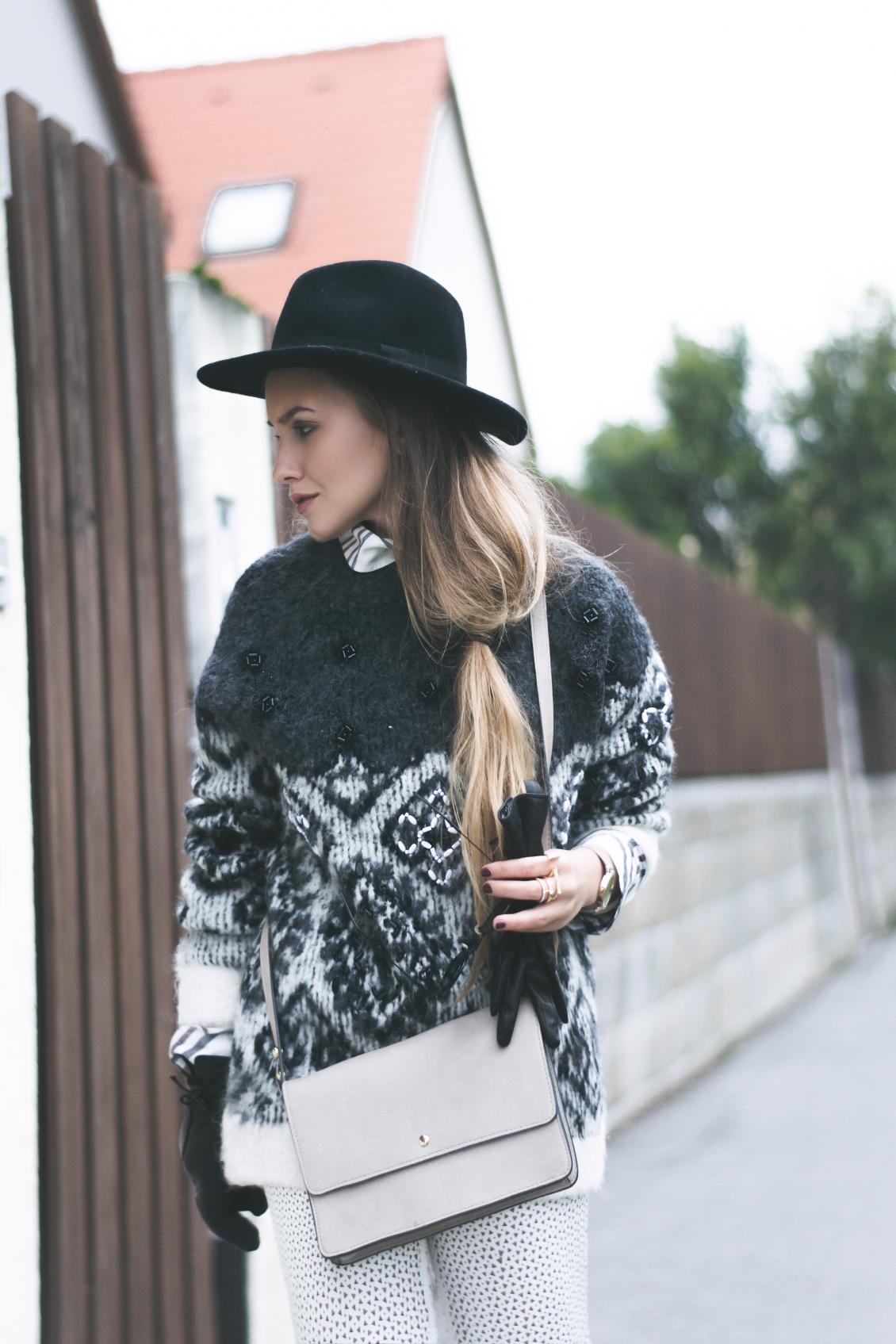 Sonderrabatt von Großbritannien Bestbewertet echt Hemd unter Pullover Outfit inspiration | FLEUR DE MODE