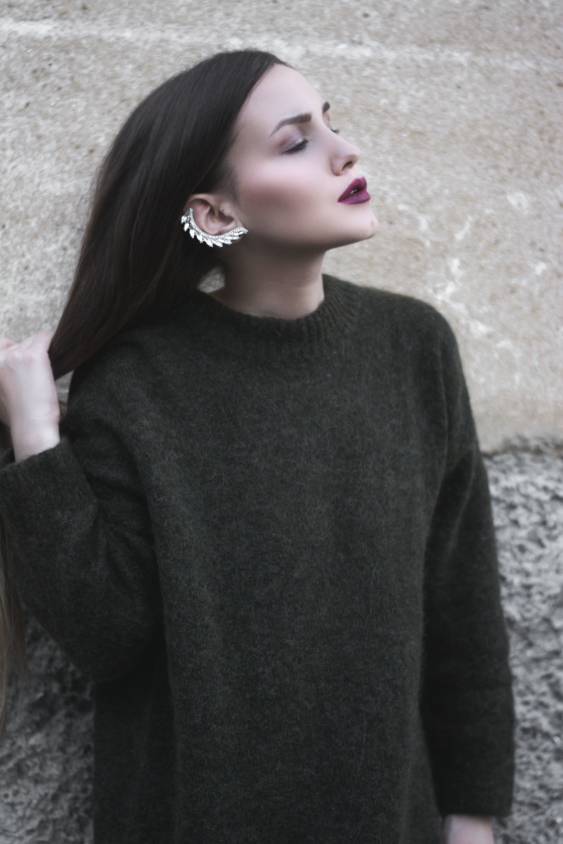 Cozy sweater and ear cuff - Fleur de Mode - Hristina Micevska