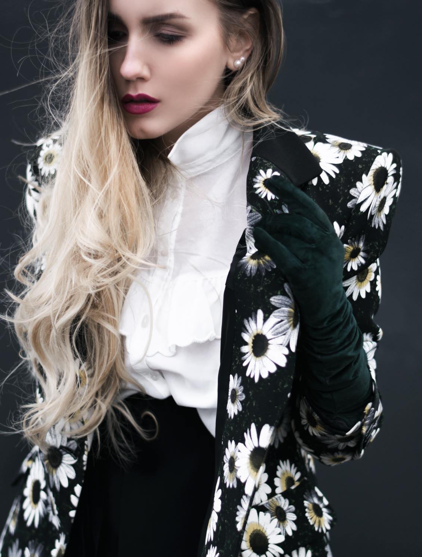 Moschino Blazer Blumen