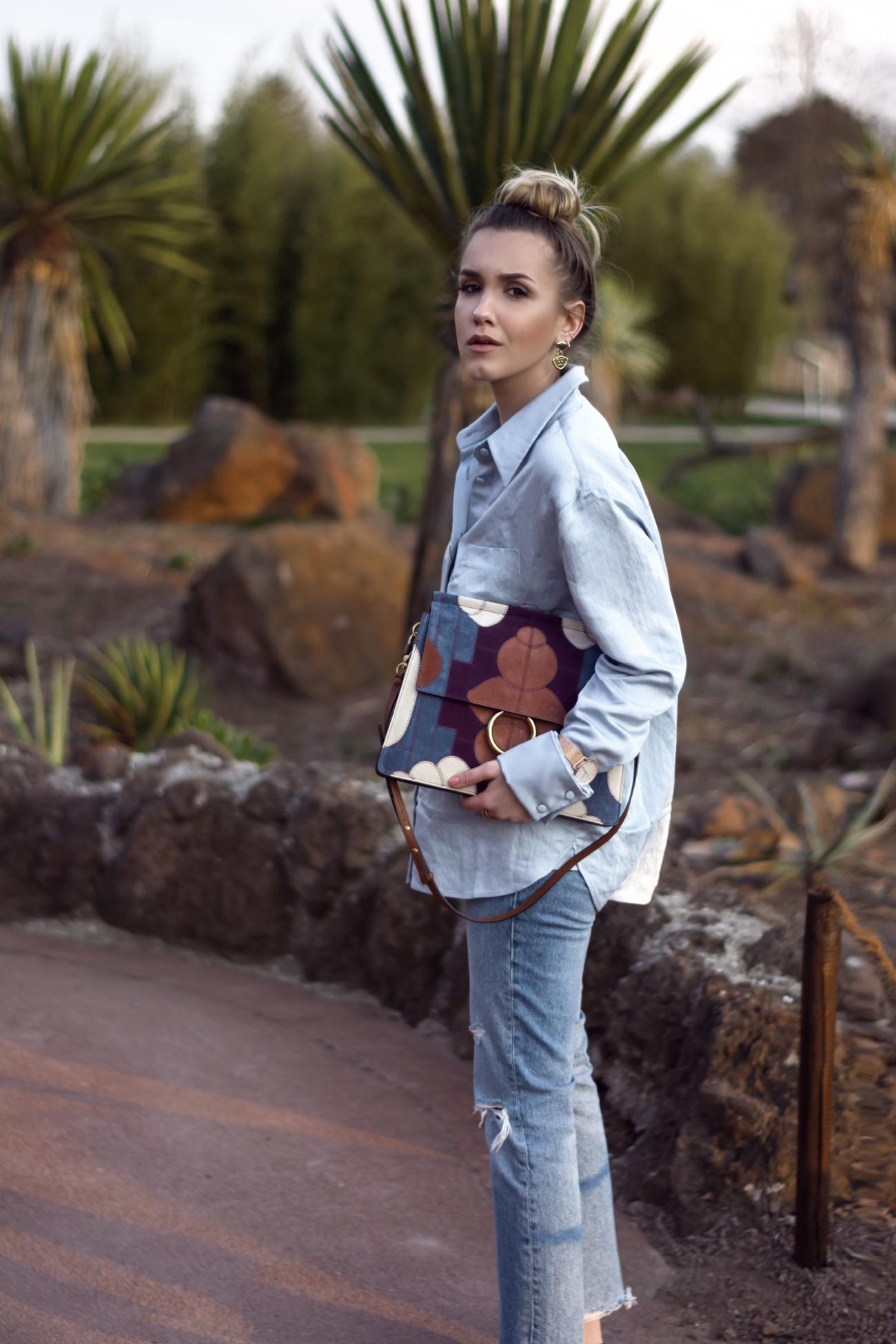 Chloé Faye Medium aus Veloursleder Outfit @fleurdemode