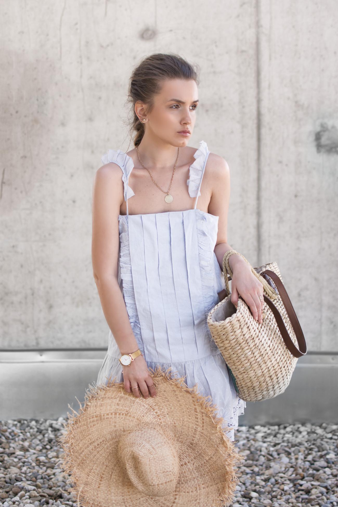 light blue Tularosa dress ANABEL @fleurdemode